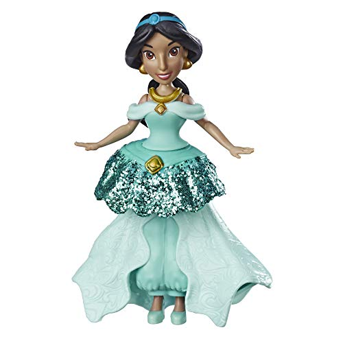 Hasbro - Dinsey Princess - Royal Clips - E3089 - Puppen Jasmine Aladdin + Dress with Clips - 10 cm - Neu