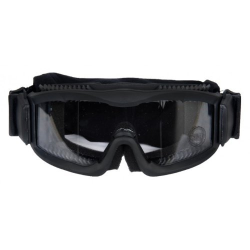 AirsoftMegastore Lancer Tactical Hobby Goggles w/ Vented Clear Lens Frame - BLACK by Lancer Tactical