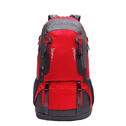 Zaino Militare Tattico Di Xin.S60L Sacchetto Di Attacco All'aperto Di Sport Sacchetto Dello Zaino Campeggio Di Caccia Escursionismo Zaino Multifunzionale. Multicolore Red
