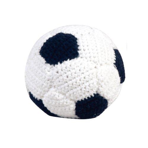 sindibaba klein Handgehäkelter Rassel Fußball