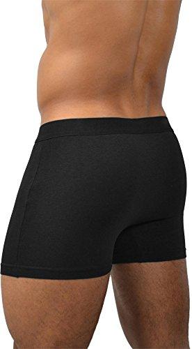 4 x Boxershorts aus Baumwolle mit Motiv Basic Style/Black