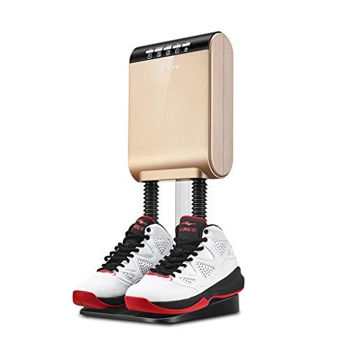 GUO@ Deodorante scarpe scarpa elettrica, deumidificatore automatico disinfezione domestica, scarpe deodorante digitale intelligente timer temperatura costante abiti-asciugatrici (colore : Oro)