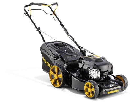 McCulloch M46-140WR Walk behind lawn mower Gasolina Negro, Amarillo - Cortacésped (Walk behind lawn mower, 1100 m², 46 cm, 3 cm, 8 cm, 0,8 L)