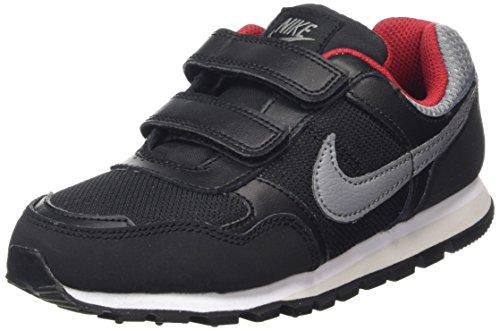 Nike Bambino MD Runner PSV scarpe da corsa Nero / Grigio / Rosso (Black / Cool Grey-Gym Red)