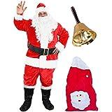 ac19d639749fb ILOVEFANCYDRESS Déguisement pour Adulte avec ce Costume de Père Noël de  Luxe en 9 pièces.