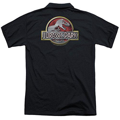 Jurassic Park Herren Poloshirt Schwarz
