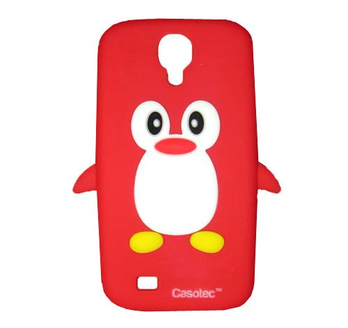 Casotec Penguin Silicone Jelly Back Case Cover for Samsung Galaxy S4 i9500 - Red  available at amazon for Rs.125