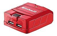Einhell 4514120 TE-CP 18 Li 18 V Li-Ion Solo Power X-Change USB Charger - Red