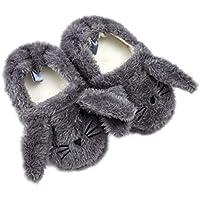 Tianhaik Zapatillas de Felpa para niños pequeños Zapatos de casa cálidos de Invierno Lindo Gato Gato Conejito para niña niño