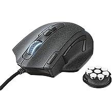 Trust GXT 4155 Caldor Gaming-Maus (4000 DPI, 11-programmierbare Tasten, on-Board Speicher, Anpassbare Gewichte und LED-Beleuchtung) Schwarz