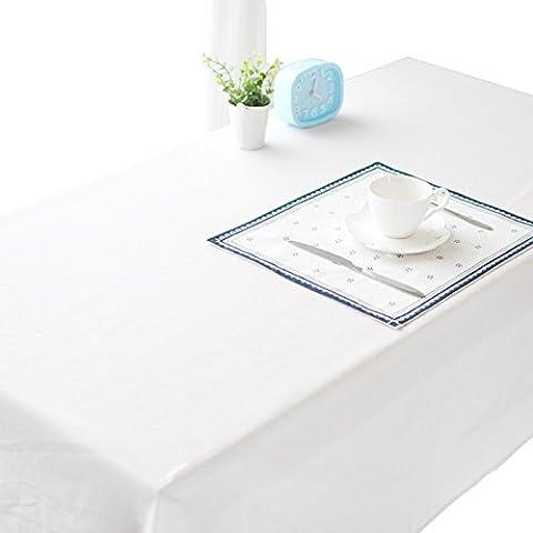 FunYoung cotone tovaglia bianca per mobili tavolo