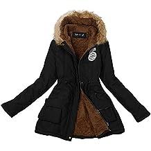 Tongshi Las mujeres caliente largo cuello de piel de abrigo con capucha chaqueta invierno Parka parka