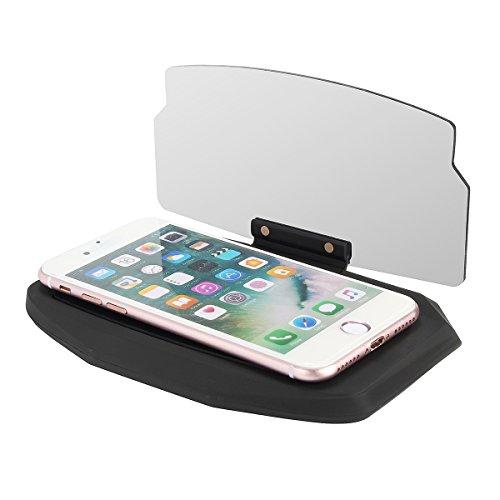 HUD panel reflectante, soporte universal para móvil en el coche para navegación GPS y conducción segura, reflector antideslizante, rotable 360 grados
