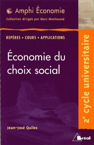 Economie du choix social