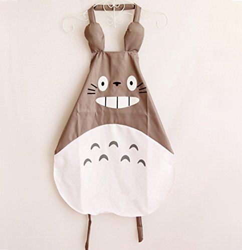 Hyzrz - Delantal de color gris de Totoro -Miyazaki