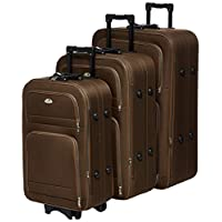 New Travel BR1001 / 4P Luggage Sets, Coffee, 88 BR1001 COFF