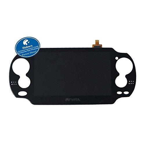 rinbers® Schwarz Große LCD-Display mit Touch Panel Digitizer Ersatz für Playstation PS Vita PSV 10001001 -