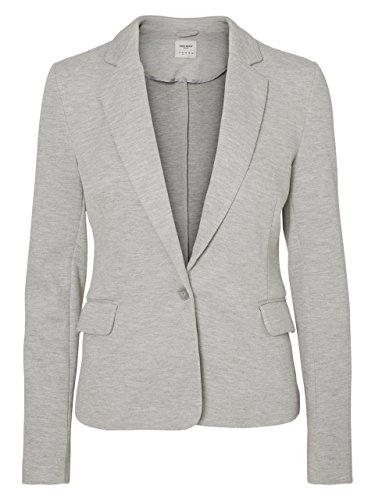 VERO Moda - Damen Jersey-Blazer in grau, schwarz,blau,Curry,Rose oder Wine (10154123), Größe:42, Farbe:Light Grey Melange