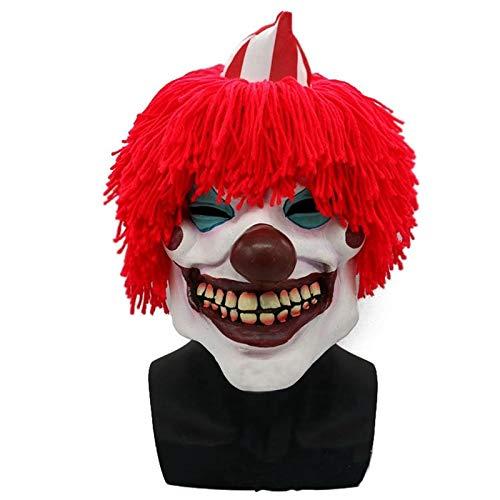 DodomSpielzeug Freies Verschiffen Joker Clown Kostüm Maske Creepy Evil Scary Halloween Clown Maske, Bild Farbe