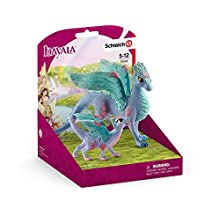 Schleich-Figurine Dragon aux Fleurs et Son Petit bayala, 70592, Multicolore