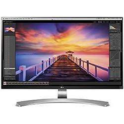 """LG 27UD88-W Écran PC LED IPS - 27"""" - 3840 x 2160 UHD 4K - 350 cd/m2 - 5 ms - Argent (2xHDMI, DisplayPort, USB 3.0, USB-C)"""
