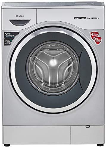 IFB 8 Kg Fully-Automatic Front Loading Washing Machine (Senator Smart Touch SX 1400 RPM, Silver, Inbuilt Heater, Aqua Energie water softener)