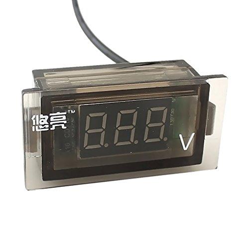 MagiDeal Voltmètre Numérique Affichage LED Vert DC 12V À 24V Jauge De Tension Auto Pièce Détachée Moto