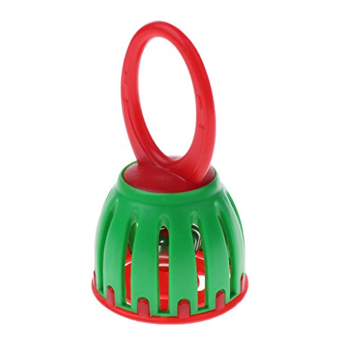 MagiDeal Baby Rasseln Hand Glocke Klingel Hand Glocken Spielzeug Bell förmig - Rot Grünfärbig