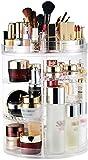Rfeifei 360 Makeup Organizzatore, fai da te staccabile Spinning cosmetico di trucco Caddy immagazzinaggio di caso di esposizione del sacchetto di grande capienza scatola di trucco acrilico Vanity dell