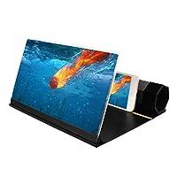 "Peedeu 12"" HD Stereoscopic Phone Screen Enlarger Projector,3d Phone Screen Amplifier, Anti-Blue Radiation,Portable Home Cinema Cellphone Amplifier For All Smartphones"