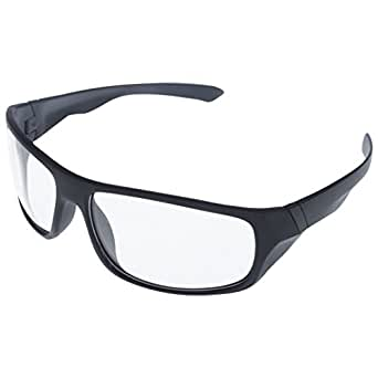 Discount4product Goggles with Transparent Lens (Black Frame)