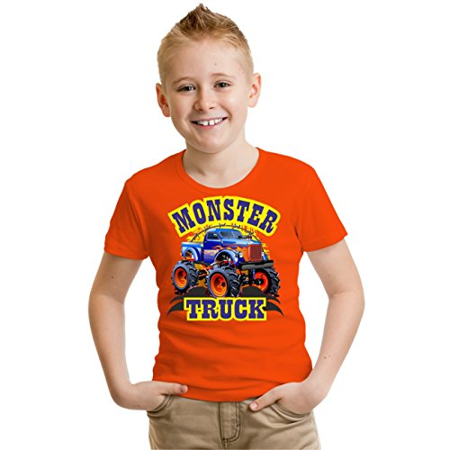 Kinder T-Shirt MONSTER TRUCK Orange