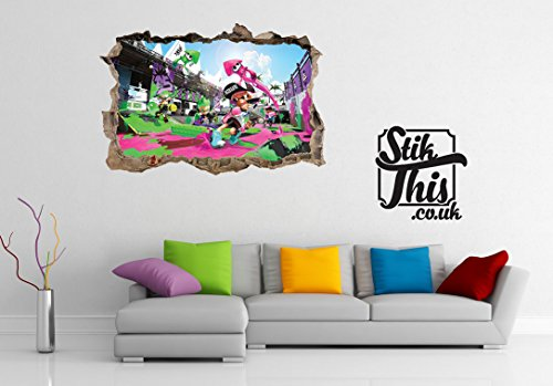 Price comparison product image Splat inkling High Quality 3D Style Wall Sticker