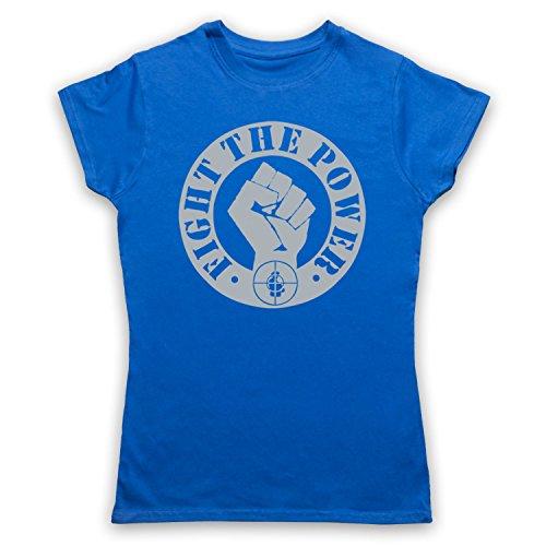 Inspiriert durch Public Enemy Fight The Power Unofficial Damen T-Shirt Blau