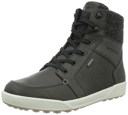 Lowa Molveno Gtx, Chaussures de Trekking et Randonnée Homme, Anthrazit (Black/Red) Anthracite