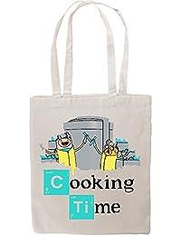 Adventure Time X Breaking Bad Parody Fan Art Funny Tote Shopping Bag