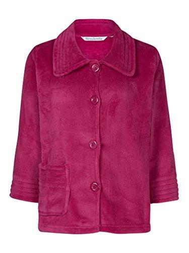 Slenderrella Veste de Pyjama 3/4 en Laine Polaire - Framboise BJ6300 Large