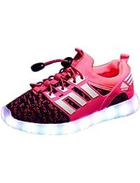Usay like Envio 24 Horas Modelos Zapatillas LED con 7 Colores Luces Carga USB Blanco Negro