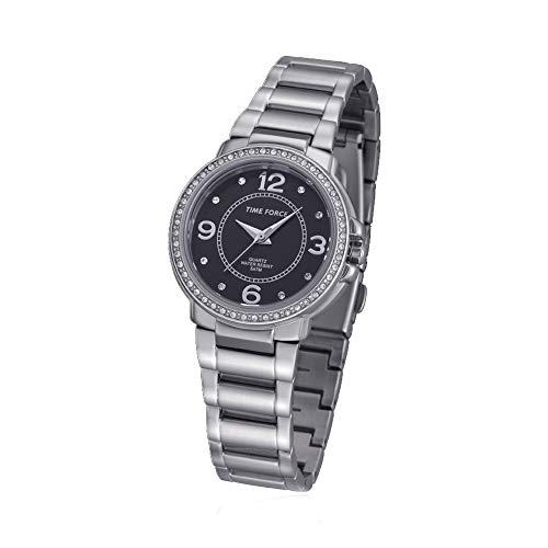 TIME FORCE Reloj Analógico para Mujer de Cuarzo con Correa en Acero Inoxidable TF-4021L01M