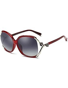 Gafas de sol polarizadas de las señoras/Gafas de sol de moda caja/Gafas de sol de comodidad ultraligero anti-UV