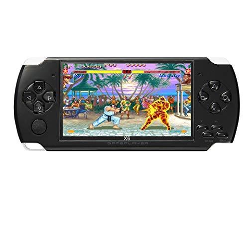 JXD 4,3 Zoll 8 GB Handheld-Spielekonsole eingebaute 1200 + echte Videospiele für Gba/GbC/SFC/FC/SMD-Spiele MP3/MP4/MP5/DV/DC Funktion (weiß)