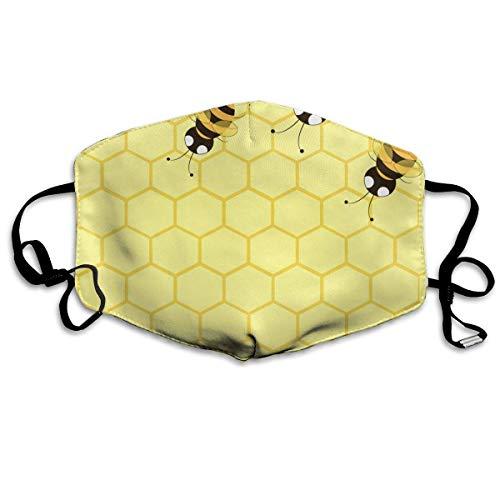 Preisvergleich Produktbild Vbnbvn Unisex Mundmaske, Wiederverwendbar Anti Staub Schutzhülle, Honey Bees Antidust Face Mouth Mask Cool Muffle Flu Washable Cycling Masks