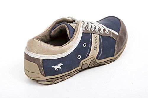 Mustang Lacets Chaussures basses Terre/Bleu foncé 4001313 Bleu - Bleu