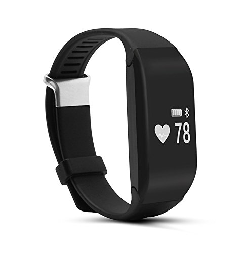 Jeemak Bluetooth 4.0 Smart Band Herzfrequenzsensor Smart Armband Fitness Tracker für iPhone Android Handy (Erinnerungen Alle Tote Meine)