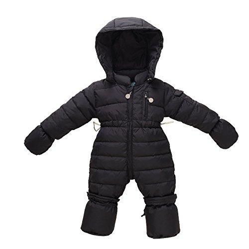 bebe-combinaisons-de-neige-et-gants-footies-enfant-barboteuse-hiver-bodys-noir-0-3-mois