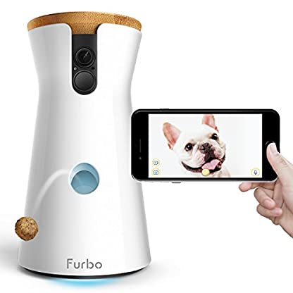 Furbo Dog Camera: Full HD Wifi Pet Camera with 2-Way-Audio, Treat Tossing, Night Vision and Barking Alerts, Designed for… 1