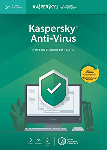 Kaspersky Anti Virus 2019 | 3 Dispositivi | 1 Anno