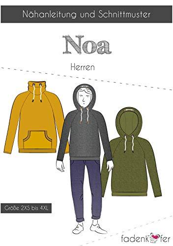 Brittschens Stoffe und Zutaten Papierschnittmuster NOA Herren - Hoodie - nähen für Herren - Größe 2XS bis 4 XL