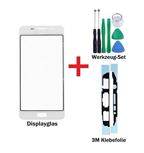 """iTech Germany PREMIUM Vetro display kit di sostituzione per Samsung Galaxy A3 (2016) Bianco - Touchscreen oleorepellente frontale per SM-A310F + """"3M"""" Adesivo pretagliato e Set di strumenti di 7 pezzi"""