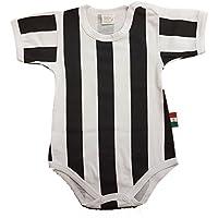 Zigozago - Body Spielanzug Baby mit schwarzen und weißen Streifen - 100% Baumwolle